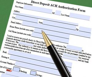 ACH Form Banner