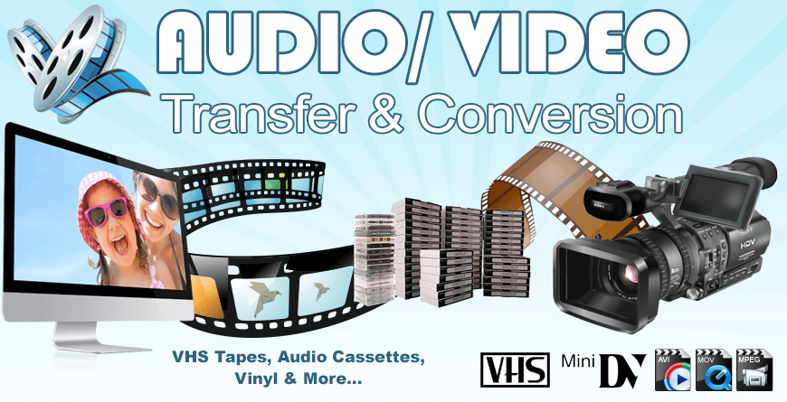 Audio Video Transfer Conversion main banner