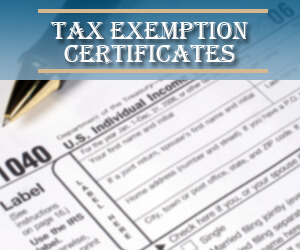 Tax exemption banner
