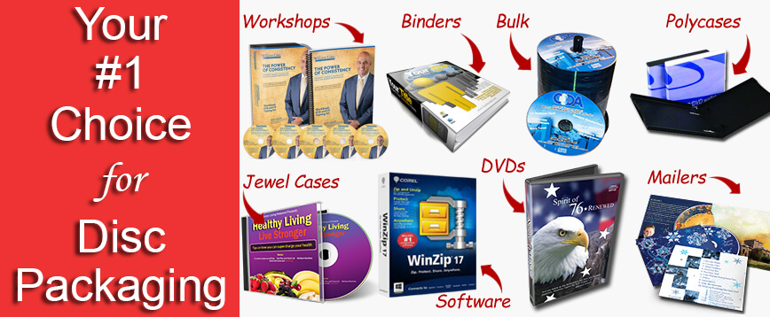 your #1 choice for disc packaging main banner