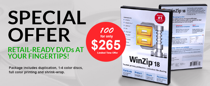 Retail-ready DVD cases special offer main banner