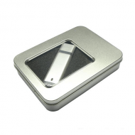 tin metal box packaging for USB flash drives with acrylic window