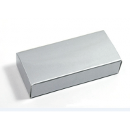 silver paper box for USB flash drive packaging