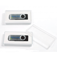 poly box with window for USB flash drives
