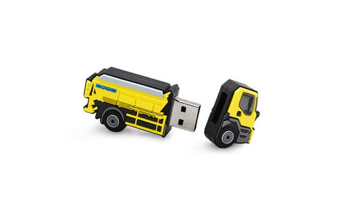 Dump Truck Custom Shapes USB Flash Drives