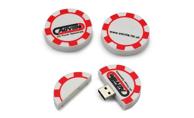 Poker Chip Custom Shape USB Flash Drives