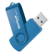 USB Flash Drive Swivel Series Color Matrix Aqua