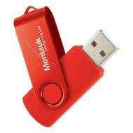 USB Flash Drive Swivel Series Color Matrix Red
