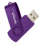 USB Flash Drive Swivel Series Color Matrix Violet