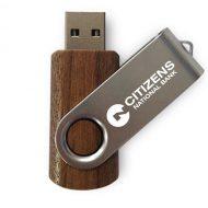 USB Flash Drive Swivel Series Walnut