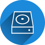 hard drive backup storage media icon
