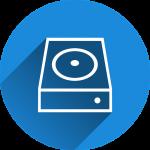 hard drive backup storage media icon